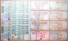 LIBIA: 30 vecchie BANCONOTE. 2 x 20 DINAR, 20 x 10, 4 x 5, 4 x 1/2. totale 140 Dinari