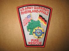Ärmelabzeichen Aufnäher Patch US- Feuerwehr Rheinland-Pfalz  NEU