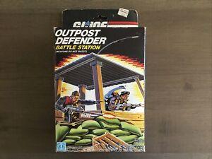 Hasbro GI Joe Outpost Defender Battle Station With Machine Gun & Blueprint