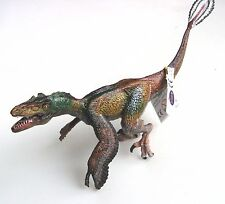 FEATHERED VELOCIRAPTOR  DINOSAUR WITH OPENING JAW BY PAPO - 19cm LONG - NEW!
