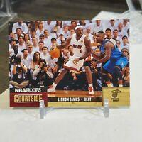 2011-12 NBA Hoops Courtside LeBron James #2 Miami Heat 1st Heat Card vs. Mavs