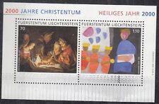 Liechtenstein 2000 Bf 20 2000 anni di cristianesimo mnh