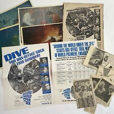 Vintage Photos Movie Stills Clippings Trade Ad Around The World Under The Sea
