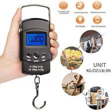 UK 50kg Digital Travel Fish Luggage Hanging Hook Weigh Electronic Weighing Scale