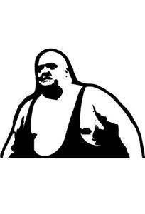 king kong bundy decal sticker vinyl wrestling stickers wwf wwe wcw