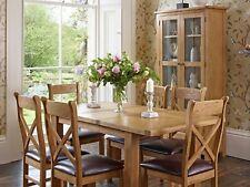 Oak  Dining Table Set Extending and Six Chairs Charlton Xandra