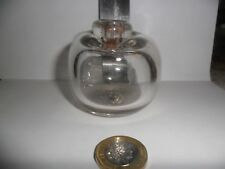 Tracy White Design Hand Blown Ink Well / Decorative Pot Clear Glass