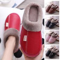 Men Lady Slippers Women Waterproof Warm Comfort Winter Mules Home Shoes Non Slip