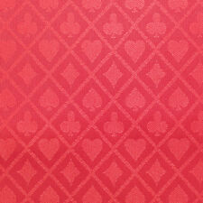 PRO Suited Speed Cloth for Poker Tables - Solid Red (9 Feet)