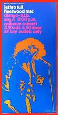 Jethro Tull Poster Fleetwood Mac Vancouver 72 Nice Reprint Signed Bob Masse