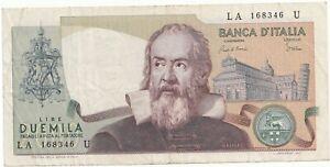 Italie billet de 2000 lire Galileo 1973