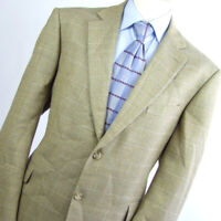 Samuel Windsor Mens Vintage Brown Suit Jacket 46 Short Wool Check