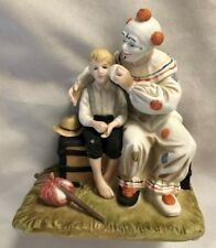 "Norman Rockwell Humor 4X5"" The Runaway Clown & Boy Figurine"