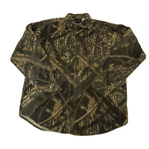 Shadow Branch Mossy Oak Hunting Camo Long Sleeve Button Up Shirt Large