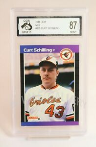 1988 Leaf Curt Schilling Rookie Card Graded Mint
