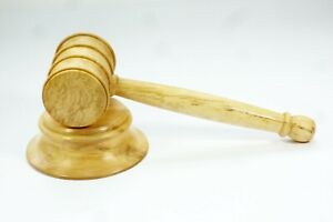 Spalted Hornbeam Wood Gavel & Block Handmade Tommy Woodpecker Woodworks