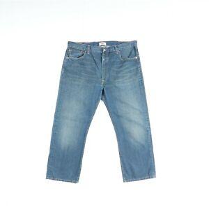 Levi's 501 Usato (Cod.Q518) W40 L32 ACCORCIATO Jeans Denim Vita Alta