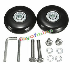 2 pcs Luggage Suitcase Replacement Wheels Axles Rubber Deluxe Repair OD 50mm New