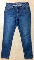 Old Navy Women's Size 8 Blue Med Wash Mid Rise Super Skinny Leg Jeans