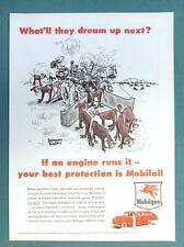 What'll They Dream Up Next Series 1955 Mobil Ad AUTOMATIC CATTLE BRANDER