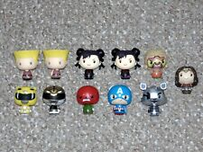 Lot of 11 Funko Pint Size Heroes Figures Power Rangers Street Fighter WWE More