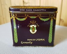 Vertikale Zigarettendose GARBATY * Duke of York * 20 Cigarettes * old pocket tin