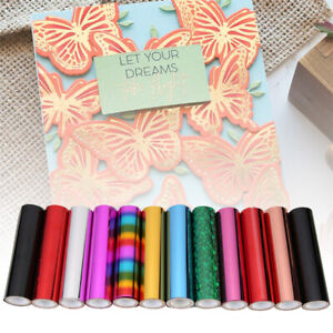 Heat Activated Foil Glimmer Foiled Paper Transfer Sheets Scrapbooking DIY Craft