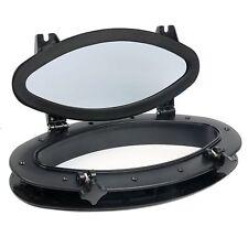 "Black ABS Opening Portlight Porthole 16"" X 8-5/8"" Replacement Window AMPP1-03 US"