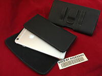 HORIZONTAL BLACK LEATHER CASE FOR IPHONE 6 PLUS CARRYING POUCH BELT CLIP HOLSTER