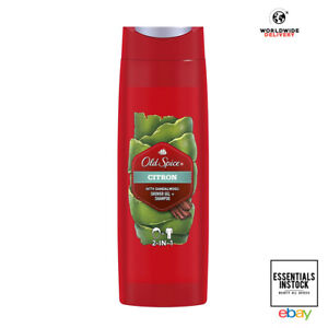 Old Spice Citron Shower Gel and Shampoo for Men 400ml x2