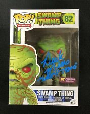 Derek Mears Signed & Inscribed Swamp Thing Funko Pop Figure