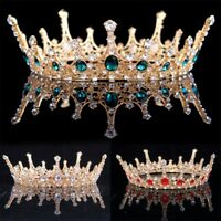 Baroque Wedding Bridal Tiara Handmade Vintage Queen Crystal Crown Headband Gift