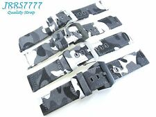 22mm Watch Strap Canvas Camouflage Multicolored Sports Military Solid Buckle New