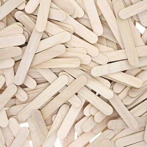 300x Mini Popsicle Sticks, Natural Wood Craft Bulk Ice Cream Stick, 2.5 x 0.4 In