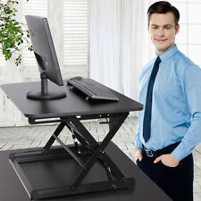 "30"" Ergonomic Height Adjustable Sit Stand Desk Riser Office Computer Top Desk"