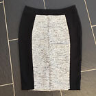 GEORGE LADIES BLACK & WHITE PENCIL SKIRT SIZE 10 BRAND NEW