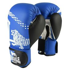 LONSDALE Blue & Black Lion Spar Boxing Training Gloves 14oz BNWT