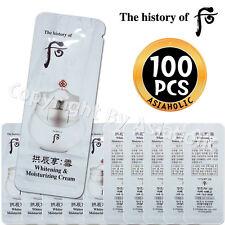 The history of Whoo Whitening & Moisturizing Cream 1ml x 100pcs (100ml) Sample