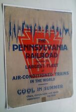 Old PRR Pennsylvania Railroad Largest Fleet Of Air-Conditioned Trains Ad Poster