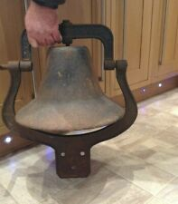 More details for vintage large heavy cast iron bell weight - 17.5kg