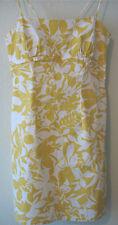 Women's Juniors Soulmates Heart & Soul Size 11 Yellow Floral Print Cotton Dress