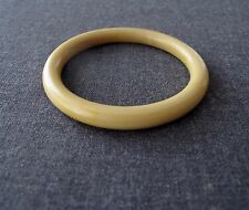 ANTIQUE 1920'S ART DECO STRIPED CREAMY CELLULOID BRACELET BANGLE