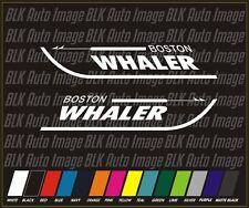 "2 BOSTON WHALER 24"" BOAT DECALS SET Car Truck Marine Vinyl replacement pair"