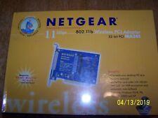 Netgear MA301 802.11b wireless PCI Adapter new sealed box