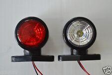 2x Rot Weiß LED Seite Umriss Begrenzungsleuchten 24V LKW-Anhänger Wohnwagen