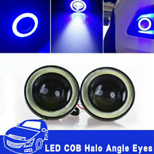 "3.5"" Inch COB LED Fog Light Projector Car Blue Angel Eyes Halo Ring DRL Lamp"
