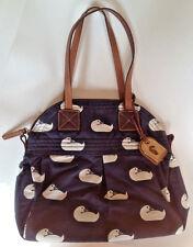 Dooney & Bourke Navy Blue White Duck Martina Sport Bag Purse Handbag Hangtag