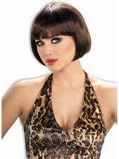 Adult Brown 20s Flapper Chic Sassy Costume Bob Wig