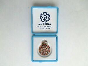 AMV Murano Italian Art Glass Millefiori Pendant Antica Murrina Veneziana w/ Box