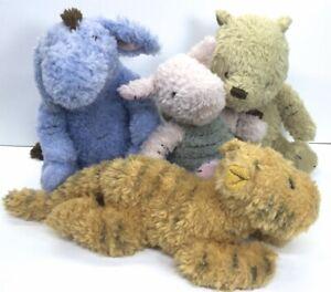 "Disney Baby Classic Lot of 4 Eeyore Pooh Piglet Tigger 9"" Stuffed Mint Condition"